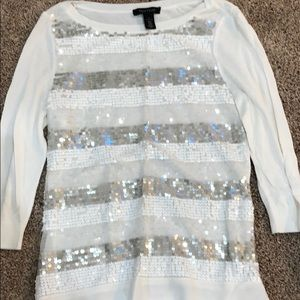 Small WHBM sweater with sequins